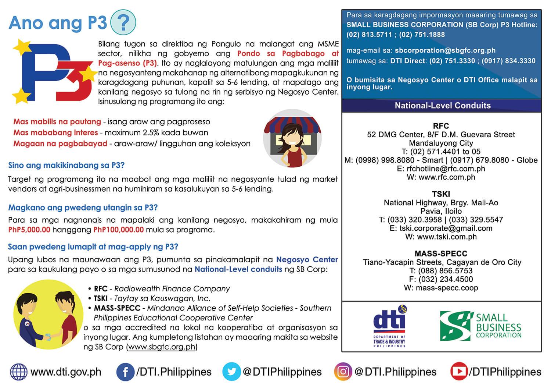 DTI P3 Pondo sa Pagbabago Pag-Asenso Guidelines